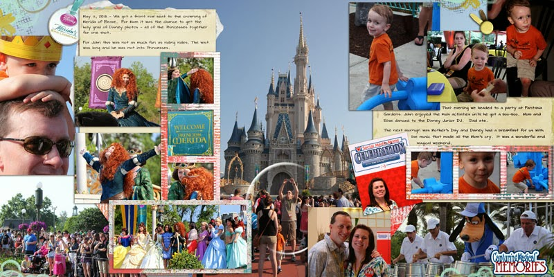 Disney Scrapbook Page Layout - 2013 Social Media Mom's Celebration - Merida Corination and Try It Party at Fantasia Gardens