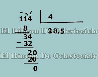 División cociente con decimales
