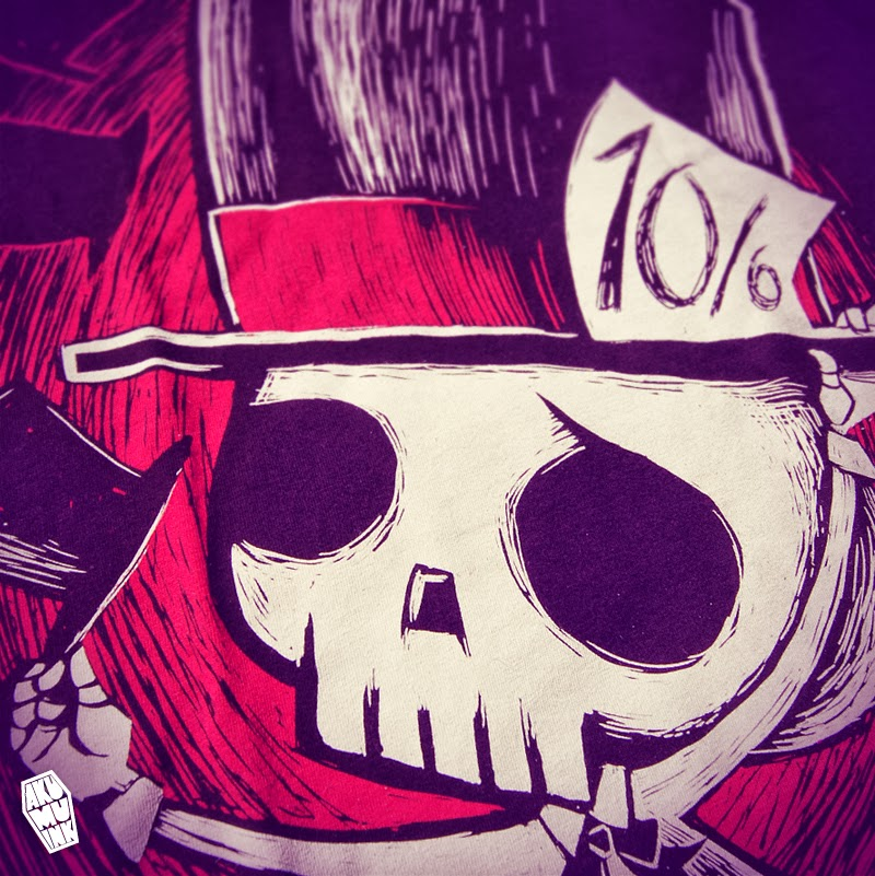 akumuink, nightmare, mad hatter, alice in wonderland, skull art, emo art, skull mad hatter, skeleteon mad hatter, emo mad hatter, goth mad hatter,