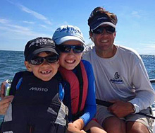 J/70 sailor with family sailing fast and having fun!