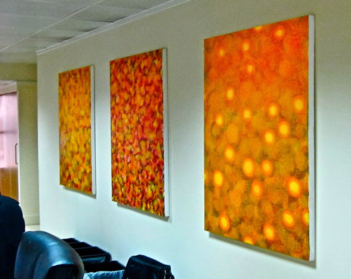 Victor Angelo Artist Modern Paintings Warm Earth Tones Natural Energy Company Corporate Art Collection Downtown London
