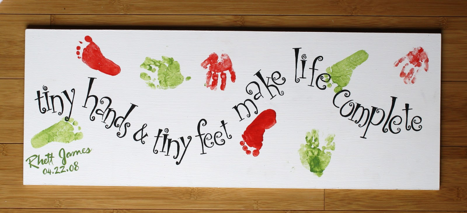 Running with scissors baby prints for Hand and feet painting ideas