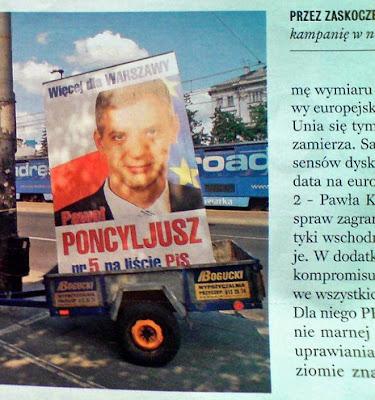 Paweł Poncyljusz w Newsweeku 2009