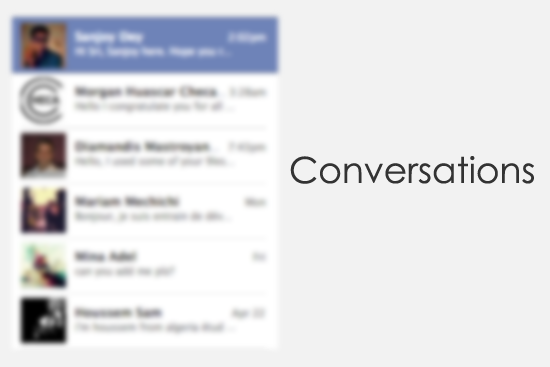 Message Conversation Database Design.