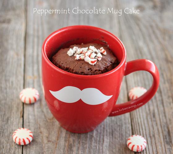 photo of a Peppermint Chocolate Mug Cake