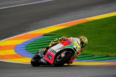 Valentino Rossi Ducati Valencia Race 2012