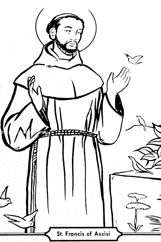 Saint francis of Assis coloring pages