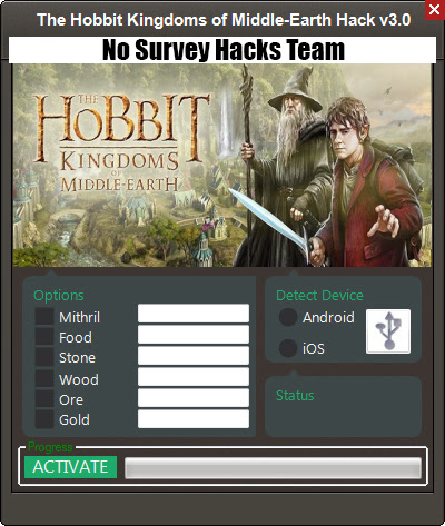 The Hobbit Kingdoms of Middle Earth No Survey Hack Feature: