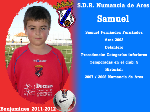 ADR Numancia de Ares. Benxamíns 2011-2012. SAMUEL.