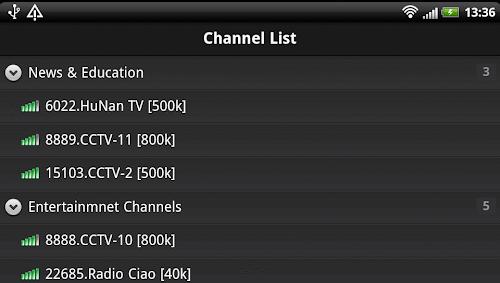 Sopcast per Android