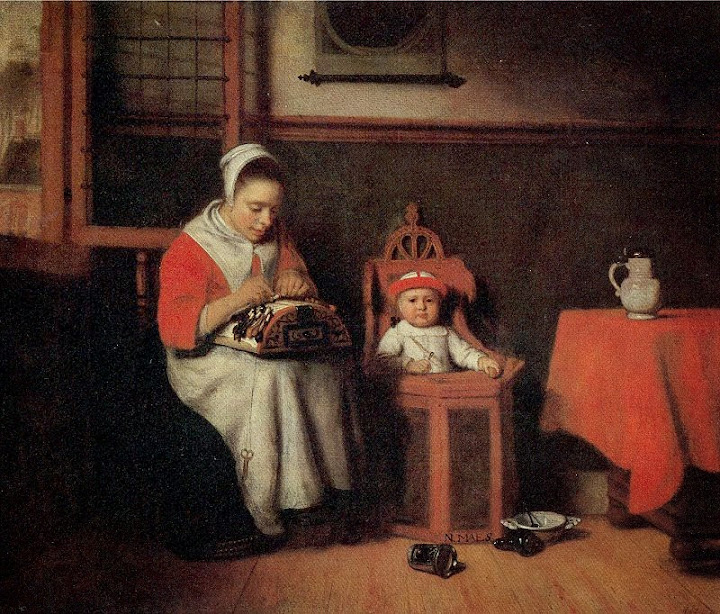 Nicolaes Maes - The Lacemaker