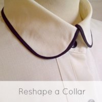 Reshape a shirt collar
