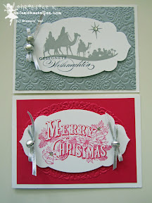 case a christmas card, stampin up, christmas postcard, come to bethlehem,