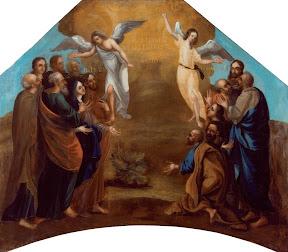 Вознесение Господне. Икона-навершие. Преображенский придел.
