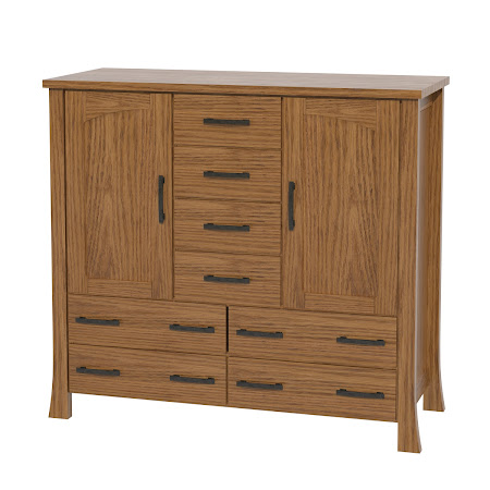 Palermo Wardrobe Dresser, Medium Oak