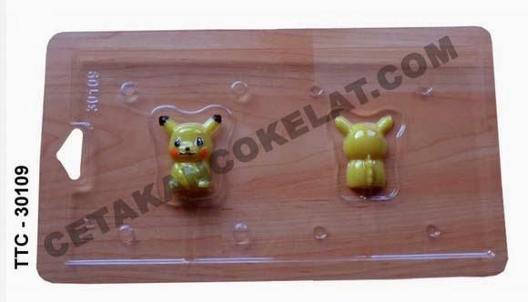 Cetakan Coklat TTC30109 pokemon Pikachu