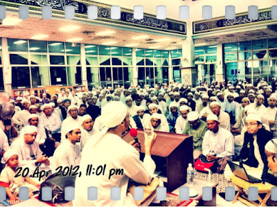 Syaikh AbdulKarim Yahya, giving his Tausiyah at Majlis Ta'lim Darul Murtadza, Ku