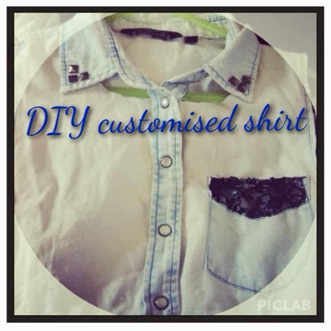 DIY customised denim shirt