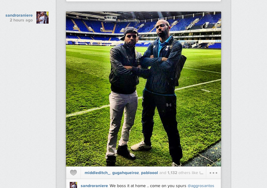 Sandro posts Instagram picture after Norwich win: We boss it at home