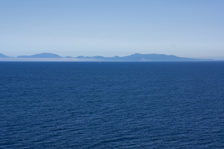 海と空がひとつになって