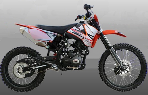 250cc KM Motocross Dirt Dike Orange