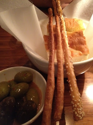 Bread and Olives at Filini Restaurant, Radisson Blu Hotel, Yas Island Abu Dhabi