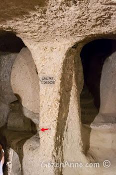 Kapadokya'daki Kaymaklı Yeraltı Şehri'nde