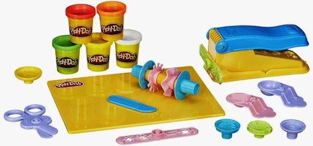 Bột nặn thức ăn đơn giản Play-Doh Beginner's set gồm 15 dụng cụ nhà bếp và 5 hộp màu