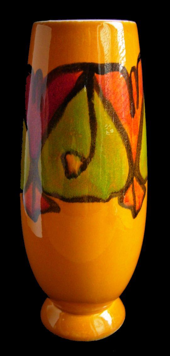 Robs Poole Pottery Blog Delphis Rocket Shape Vase