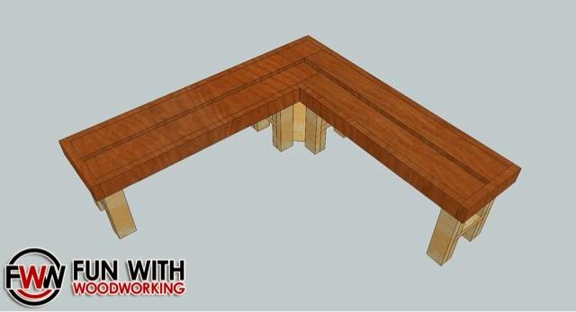 woodworking plans projects l shaped garden bench. Black Bedroom Furniture Sets. Home Design Ideas