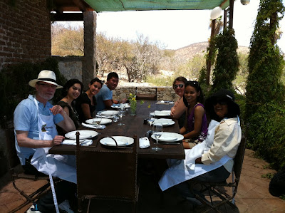 Press Group Ready for Lunch at Los Tamarindos on Los Cabos, Mexico - Photo Courtesy of Los Tamarindos