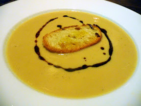 Soup Du Jour of cauliflower soup, Imperial PDX, Vitaly Paley