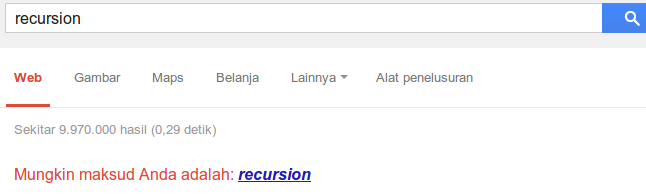 Bug Google Search