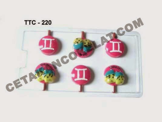 Cetakan Coklat TTC220 Zodiac Gemini