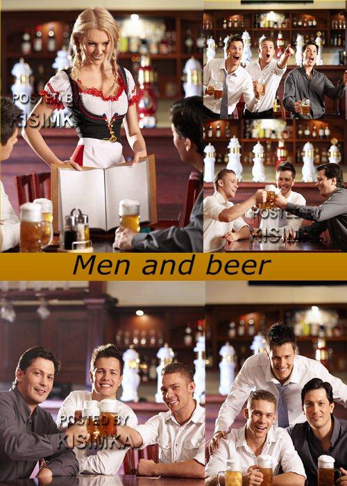 Stock Photo: Men and beer