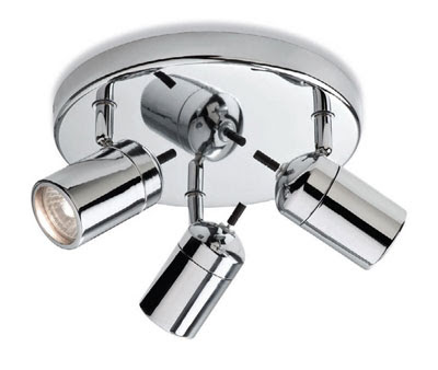 Firstlight 9070CH - Atlantic Triple Ceiling Spotlight for Bathroom(three spots bathroom ceiling fitting))