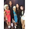 Lynhthy Nguyen and Steve Aoki during Rage the Night away video shoot