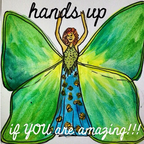 butterfly lady inspiration Jacqstar creations art with heart craft watercolour