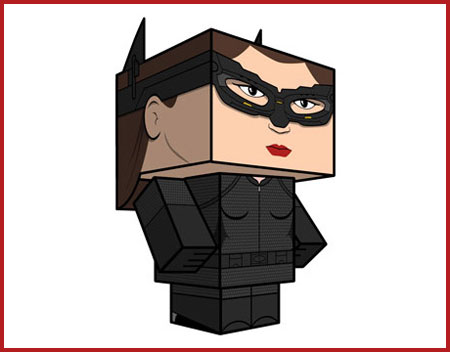 Catwoman Paper Toy