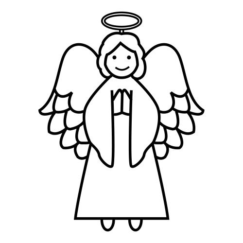 Dibujos De Un àngel Para Colorear Imagui