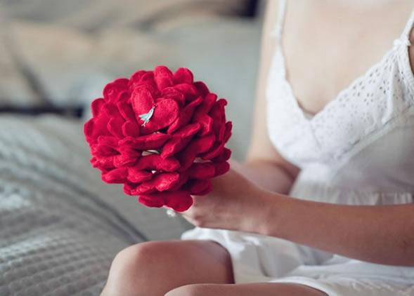 Bouquet de feltro para casamento