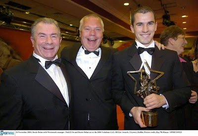 Dessie Dolan wins a GAA Football All-Star Award, November 2014 (with Dessie Dolan Snr, Paidi O'Sé)