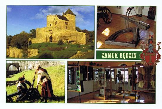 zamek będzin pocztówka