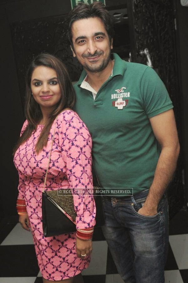 Namita and DJ Aarya during the party, held at BW club, New Friends Colony.
