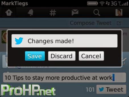 BlackBerry Apps Twitter v5.0.0.6