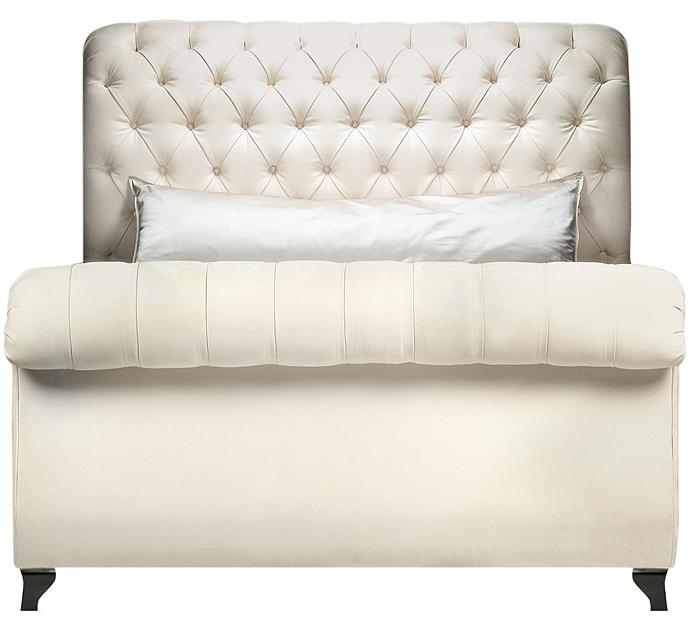 Horchow Platinum Tufted Bed Copycatchic