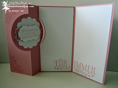 stampin up, wedding, hochzeit, love & laughter, zum schönsten tag, wo das herz, forever with you, flipcard thinlits