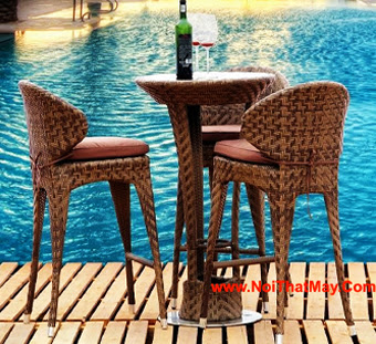 Outdoor Wicker Bar Set Minh Thy 824
