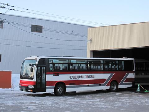 北海道中央バス「高速るもい号」直行便 1496 出庫 出発準備中