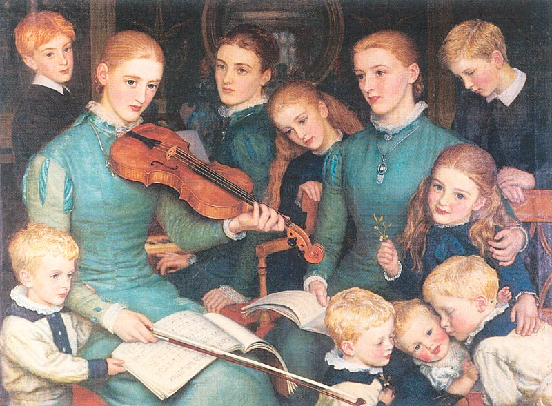 Arthur Hughes - A Christmas Carol at Bracken Dene